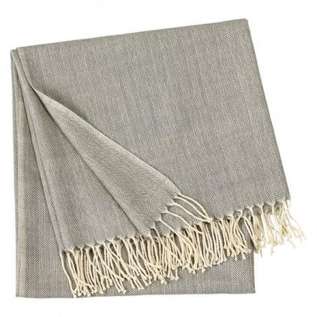 Vertigo torkkupeitto, light stone grey, 130x170 cm