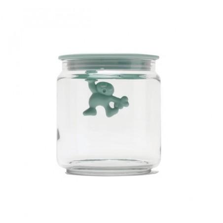 Gianni - a little man holding on tight - lasipurkki, mintunvihreä 12cm