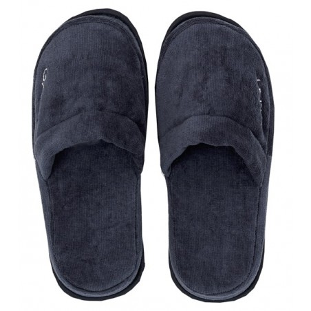 Premium slippers, sateen blue S