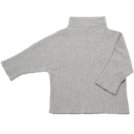 Cable knit lounge sweater, L grey