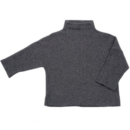 Cable knit lounge sweater, M antracite