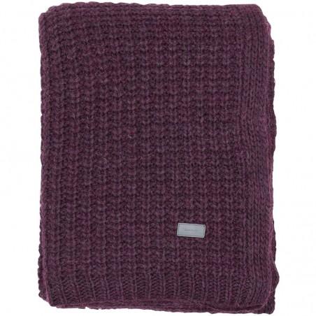 Moss knit throw torkkupeitto 130x180cm, purple fig