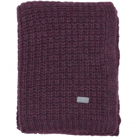 Moss knit throw torkkupeitto, purple fig