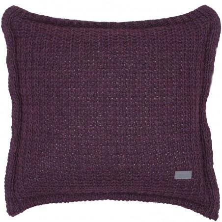 Moss knit tyynynpäällinen, purple fig