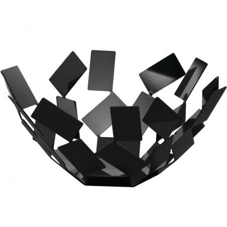 La Stanza dello Scirocco MT02B hedelmäkulho, musta