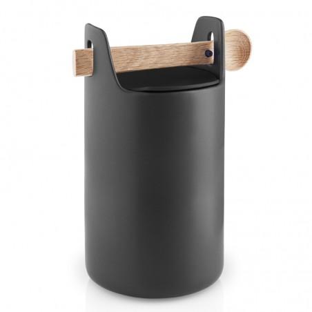 Toolbox säilytysastia 20cm + kansi + lusikka, korkea musta