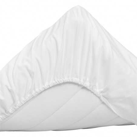Sateen fitted sheet muotoonommeltu aluslakana 180x200cm, white