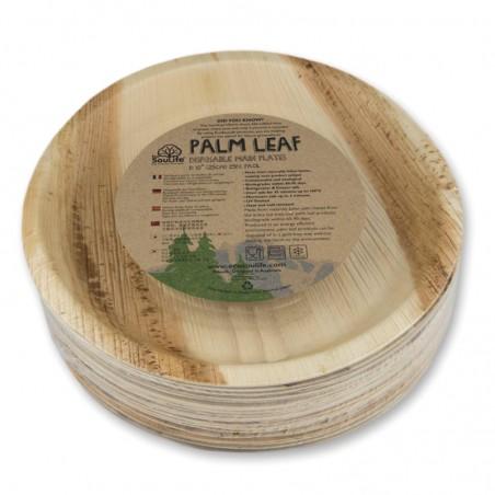 Lautanen pyöreä 25cm, 12kpl palmunlehti