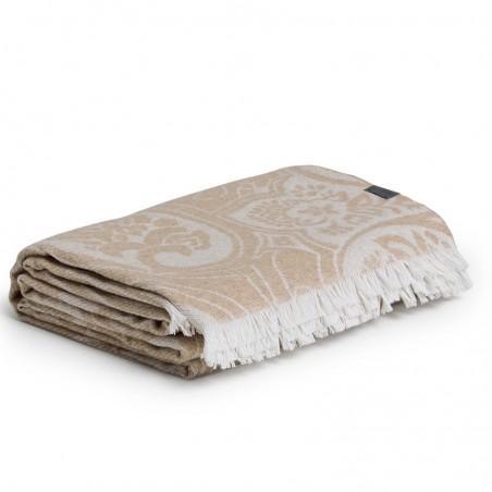 French paisley torkkupeitto 130x180cm, dry sand
