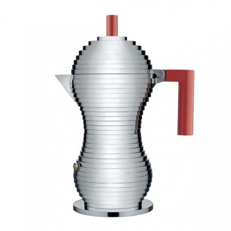 Pulcina espressokeitin induktio, 6:n kupin, punainen