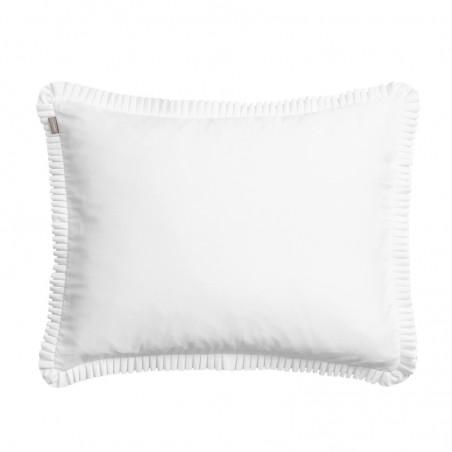 Sateen pleat tyynyliina, white