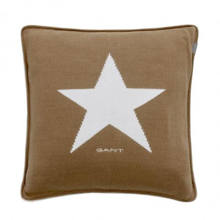 Star knit tyynynpäällinen, warm khaki