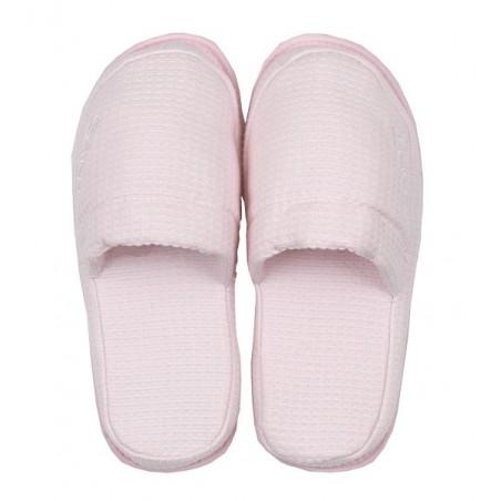 Waffle slippers kylpytossut, nantucket pink L