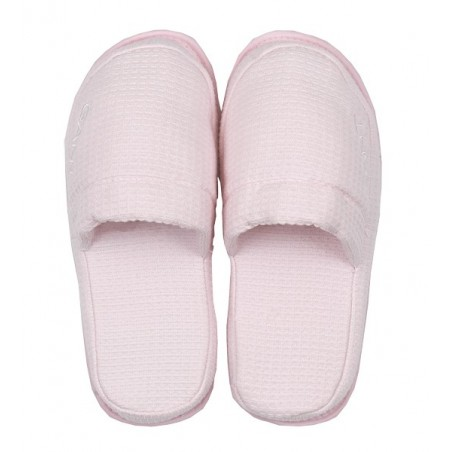 Waffle slippers, nantucket pink L