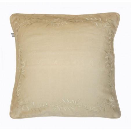 Leaf Embroidery tyynynpäällinen, beige