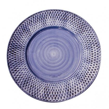 Basket weave ruokalautanen, sininen