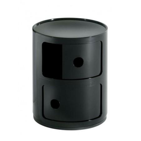 Componibili säilytyskaluste, 2-osainen, musta