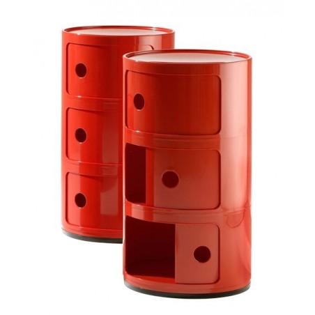 Componibili säilytyskaluste 3-osainen, punainen