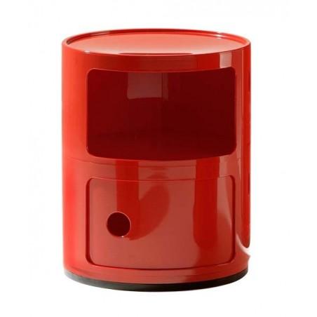 Componibili 2-osainen säilytyskaluste, punainen