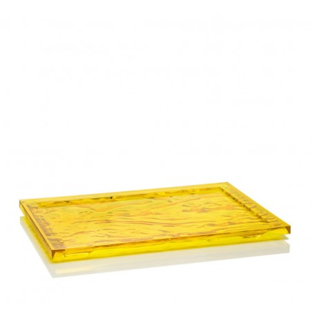 Dune tarjotin 46x32, keltainen läpinäkyvä