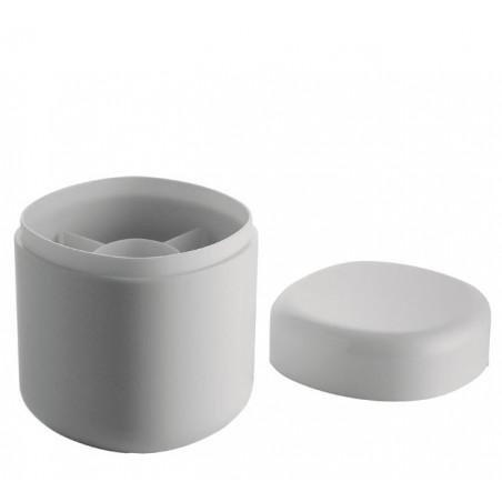 Birillo kannellinen rasia, valkoinen